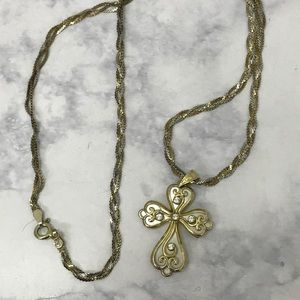 Jewelry - Sterling Silver Mother Of Pearl Cross necklace